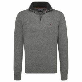 Tommy Hilfiger Lambswool Zip Mock Sweater