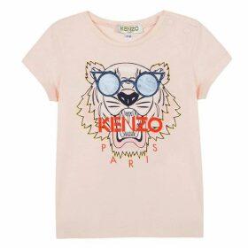 Kenzo Baby Girl Tee-Shirt Old Pink