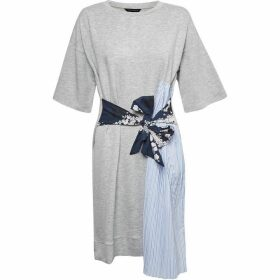 French Connection Ono Tie Mix Jersey Dres