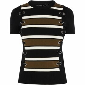 Karen Millen Striped Contour T-Shirt
