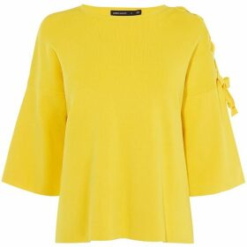 Karen Millen Tie-Shoulder T-Shirt