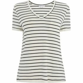 Warehouse Stripe V Neck Smart T-Shirt