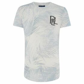 Religion Reverse Print Palm Tree T-Shirt
