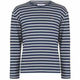 Farah Vintage Farah Bain Long Sleeve T Shirt - 415 BOB BLUE