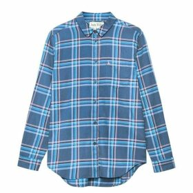Jack Wills Guilden Checked Boyfriend Shirt - Blue Check