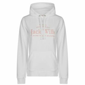 Jack Wills Hunston Embroidered Hoodie Ladies - Vintage White
