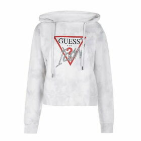 Guess Icon Tie Dye Hoodie - CLOUDY LILAC