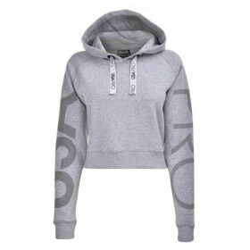 USA Pro Crop Hoodie Ladies - Grey Marl