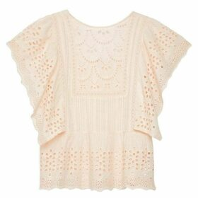 Jack Wills Fleur Pretty Lace Top - Pale Pink