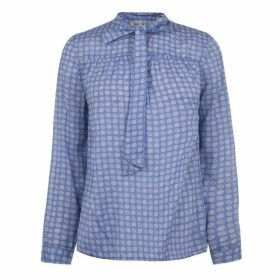 Jack Wills Laperth Collarless Shirt - Purpl Foulard