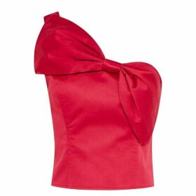 Jack Wills Bevendean Bow Top - Crimson
