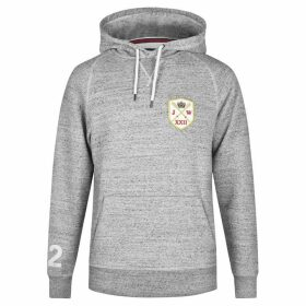 Jack Wills Graphic Hoodie - Grey Marl