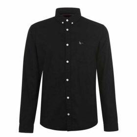 Jack Wills Wadsworth Plain Oxford Shirt - Black