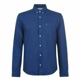 Jack Wills Wadsworth Plain Oxford Shirt - Deep Blue