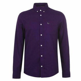 Jack Wills Wadsworth Plain Oxford Shirt - Plum