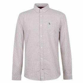 Jack Wills Wadsworth Stripe Oxford Shirt - Damson