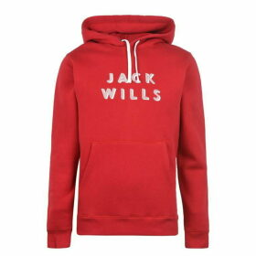 Jack Wills Batsford Wills Popover Hoodie - Red