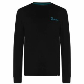 Penfield Moraine Long Sleeve T Shirt - Black/White