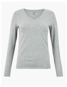 M&S Collection Cotton Rich Fitted T-Shirt
