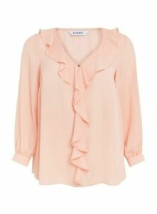 Blush Frill Long Sleeve Top, Blush