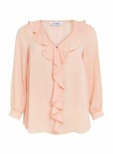 Blush Frill Long Sleeve Top, Blush