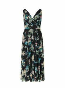 **Scarlett & Jo Chiffon Print Black Maxi Dress, Black