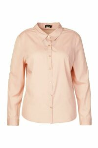 Womens Plus Button Through Shirt - pink - 18, Pink