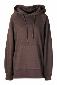 Womens Mix And Match Edition Longline Hoodie - Black - M, Black