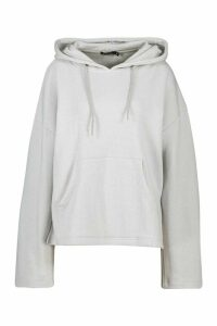 Womens Mix & Match Edition Step Hem Hoodie - grey - L, Grey