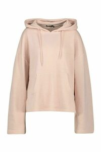 Womens Mix & Match Edition Step Hem Hoodie - Beige - S, Beige