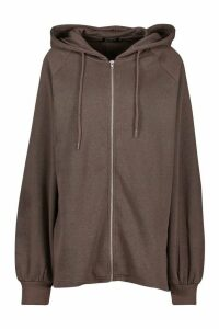 Mix & Match Oversized Longline Zip Hoodie - Black - M, Black
