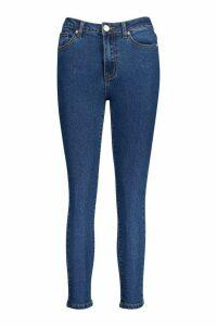 Womens Petite High Rise Skinny Jeans - Blue - 8, Blue
