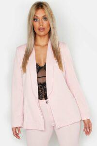 Womens Plus Tie Waist Blazer - Pink - 20, Pink