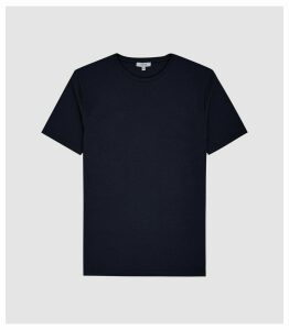 Reiss Heaton - Textured Crew Neck T-shirt in Navy, Mens, Size XXL
