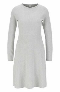 Knitted dress in a cotton blend with silk