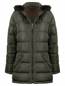 Prada Pre-Owned 1990s hooded puffer coat - Brown