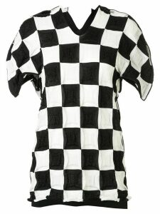 Junya Watanabe Comme des Garçons Pre-Owned checked pattern knitted top