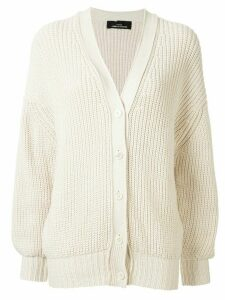 Comme Des Garçons Pre-Owned chunky knit buttoned cardigan - Brown