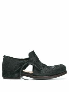 Individual Sentiments textured cut-out loafers - Black