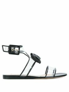 Valentino Dollybow flat sandals - Black
