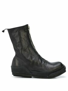 Guidi front zipped ankle boots - Black