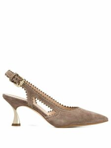 Casadei slingback 75mm pumps - NEUTRALS
