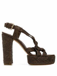 Casadei platform high heeled sandals - Brown
