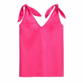 Tie-Shoulder Cotton Cami