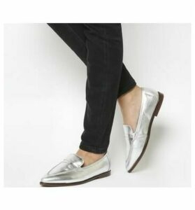 Office Falcon Point Loafer SILVER LEATHER