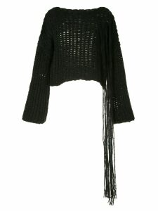 Isabel Benenato chunky knit jumper - Black