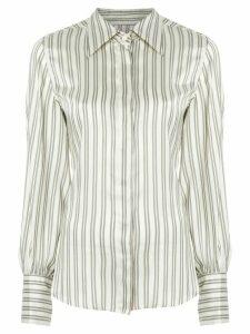 Isabel Marant Verdigris stripe shirt - NEUTRALS