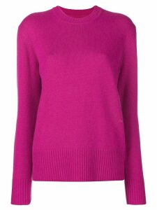 Calvin Klein long-sleeve fitted sweater - PINK