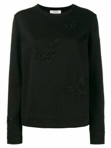 Valentino beaded butterfly sweatshirt - Black