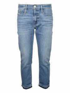 Frame Jeans Le Garcon Crop Flare Released Hem Tacking
